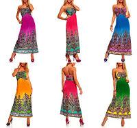 New Lot Halter Beaded Casual Maxi Long Sun Summer Boho DRESS S M L XL