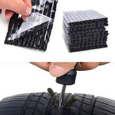Car Bike Tyre Tubeless Seal Strip Plug Tire Puncture Repair Recovery Kit 50Pcs