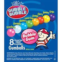 """Dubble Bubble Assorted Gumballs Vending Size 25 Cents Each 1"""" Round 850 ct"""