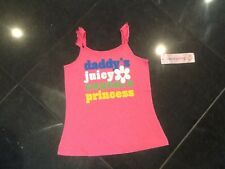 NWT Juicy Couture New & Genuine Girls Age 8 Pink Cotton T-Shirt With Juicy Logo