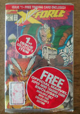 X-Force #1 Factory Sealed & Signed by Rob Liefeld Cable sticker & card RARE 1:25