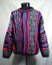 Tundra Sweater Bright Cosby Abstract Crew Neck Textured Men's Size Medium