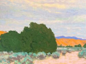 Western Art Santa Fe Oil Painting Impressionist Desert New Mexico Landscape New