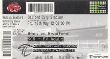 BIGLIETTO-Salford City Reds V Bradford Bulls 18.05.2012