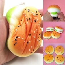 Soft Jumbo Simulation Sesame Hamburger Toys Squishy Slow Rising Bread Bun Gift
