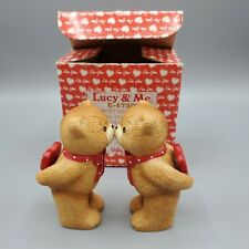 Lucy & Me Enesco Kissing Teddy Bears Figurines 1983 In Original Box by Lucy Rigg
