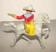 Vintage Barclay Lead Cowboy On Horse Figurine