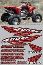400ex Decals Graphics 12pc ATV QUAD Gen 1 RED PLASMA FLAME FULL COLOR FREE SHIP