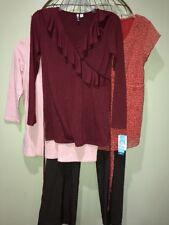 Small 4-6 Pink Orange Brown Maternity Career Casual Tops & Pants Mixed Lot