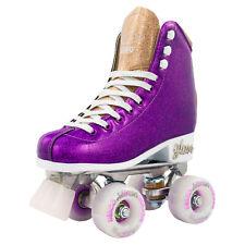Glam Roller Skates by Crazy Skates   Girls Glitter Quad Rollerskates   Purple