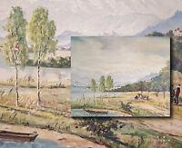 Chiemsee,  Alpenvorland. Original altes Ölgemälde, PAUL HELBING München