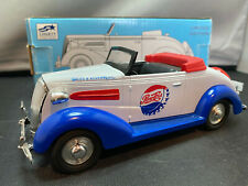Liberty Classics Pepsi Shot 1937 Chevy Cabriolet 1/25 Diecast Coin Bank & Box