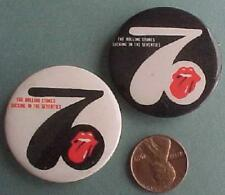 1981 Rolling Stones Sucking in the 70s album release 2 promo pin set-VINTAGE SET