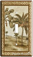 CLASSIC PALM TREES SINGLE LIGHT SWITCH COVER WALL PLATE LIVING ROOM HOME DECOR