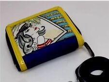 Brighton Fashionista VIP Yellow Blue Leather Crossbody Sailor ID Wallet T11330