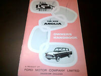 Ford New Anglia Owners Handbook Instruction Guide Manual 1959
