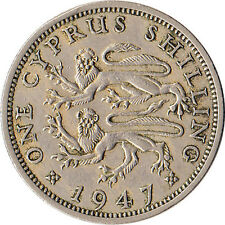 1947 Cyprus 1 Shilling Coin KM#27 One Year Type