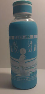 Members Glass Water Bottle from Saint Louis Art Museum with Silicone Sleeve