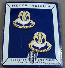 US Army DI / DUI / Unit Crest 100th Division Training / Pair On Original Card
