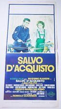 LOCANDINA ORIGINALE DEL FILM SALVO D'ACQUISTO CON MASSIMO RANIERI 1974