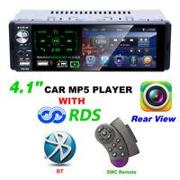 "4.1"" In-dash Audio Car HD Radio Stereo Bluetooth MP5 Player 1 DIN AUX 2 USB FM"