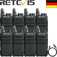 8XRetevis RT622 PMR Funkgeräte16Kanäle CTCSS/DCS VOX Squelch WalkieTalkie+USB