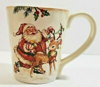 "Pier 1 Holiday Coffee Cup - Winter Wanders - 12 Oz - Ironstone - 4 1/2"" x 4"""