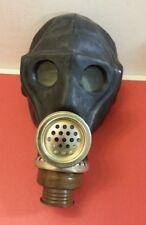 """Russische Gasmaske SchMs (sog."""" Affe """") in SCHWARZ mit Schlauch & Tasche Fetisch"""