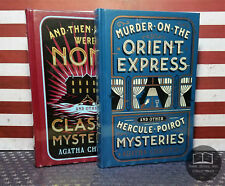 NEW SEALED Agatha Christie 6 Books in 2 Volumes Bonded Leather Murder Orient