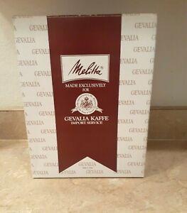 MELITTA 4 CUP COFFEE MAKER BCM-4C MADE FOR GEVALIA KAFFE WHITE BRAND NEW