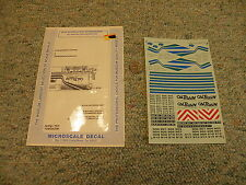 Microscale decals 87-473 Cal Train F40 PH-2 locomotives C K105