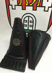 VW Golf MK2 Leather Gearstick Gaiter with Laser Etched Edition Logo