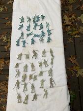 LOT (46) VINTAGE MARX BLUE AND GRAY CIVIL WAR UNION SOLDIERS