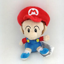 "Super Mario Bros. World Soft Plush Toy Baby Mario Stuffed Animal Figure New 5"""