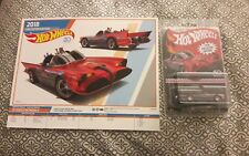 Hot Wheels 2018 Kmart Mail In TV Series Batmobile Batman New In Hand w/ Poster