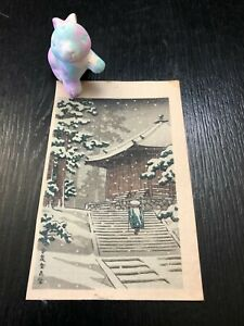 Kawase Hasui, original first print, watanabe,japanese woodblock print, japan art