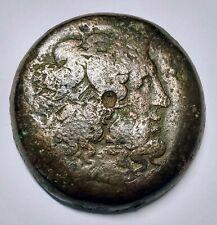Large bronze Decadrachm Ptolemy II  Philadelphos , Zeus , 2 Eagles Ca.284-247 BC