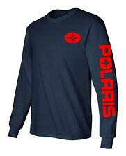 POLARIS SNOWMOBILE ATV Adult to 5X & Youth Long Sleeve T-Shirt *Choose Colors