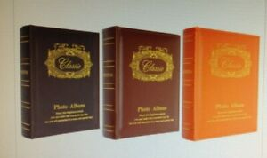 200 PAGE PHOTO ALBUMS PU LEATHER 6X4 SLEEVES