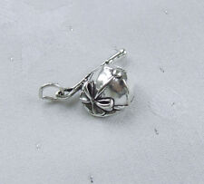 RIDING CROP & HAT JOCKEY'S CAP 3D HORSE CHARM 925 STERLING SILVER