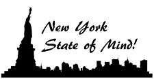 New York Skyline Wall Decal Vinyl Sticker City Silhouette NYC Wall Decals Vinyl