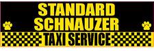 Standard Schnauzer Taxi Service Dog Sticker