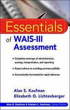 Essentials of WAIS-III Assessment (Essentials of Psychological Assessment), Lich