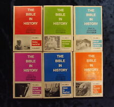 VOLUMES 1 - 6 ' THE BIBLE IN HISTORY ' by JOSEPH RHYMER  H/B D/W* £3.25 UK POST*