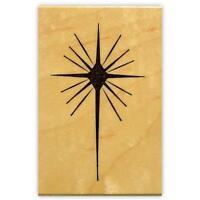 STAR of BETHLEHEM mounted rubber stamp, religious Christmas, nativity #13