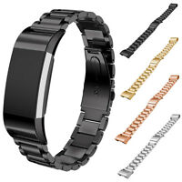 Luxury GOLD Silver Stainless Steel Bracelet Watch Band Strap for Fitbit Charge 2