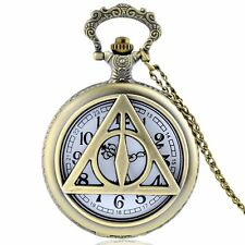HARRY POTTER DEATHLY HALLOWS DELUXE POCKET WATCH CHARM NECKLACE *NEW* RARE SALE