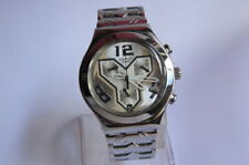 Vintage Swiss Made SWATCH Chronograph IRONY 4 Jewels V8 Quartz Light Used Watch