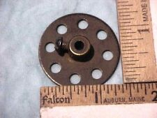 VINTAGE MECCANO erector PIERCED DISK 8 HOLE  1 3/8 in. dia with 1/8 SHAFT HOLE