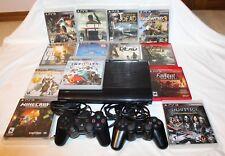Sony PlayStation 3 PS3 Super Slim 250 GB Console PLUS 13 Games lot EUC 16 pcLot